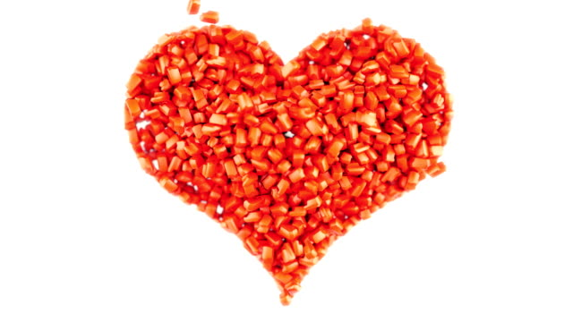 Sweet love and Valentine: Red Candies heart shape video