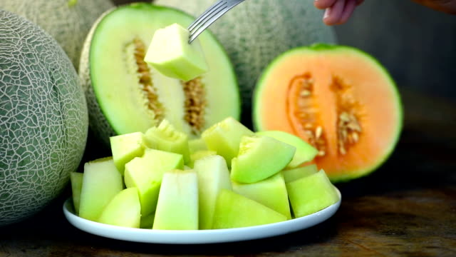 sweet melon in white dish video