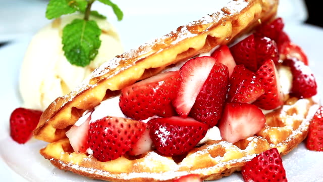 Sweet Strawberry and waffle video