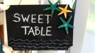 Sweet table sign video