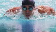 Swimmer closeup video