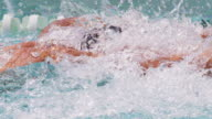 Swimmer cutting through the water video