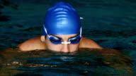 Swimmer doing the butterfly stroke video