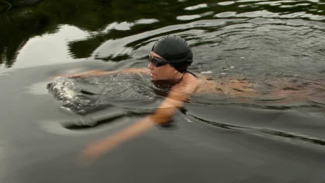 swimmer side shot video