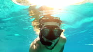 Swimming and snorkeling video