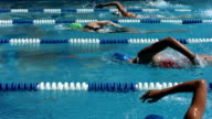Swimming Competition, Slow Motion video