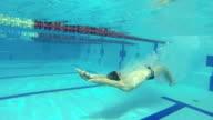 swimming in waterpool video