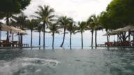 Swimming pool at hotel resort video