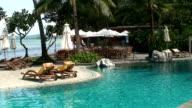 Swimming pool bar video