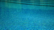 Swimming pool blue water video