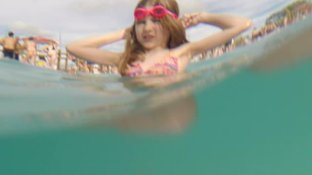 Swimming pool girl video