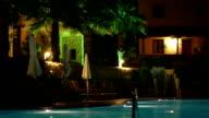 swimming pool in the night video