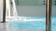 Swimming pool spa water fall video