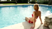 Busty Euro blonde Chloe Lacourt fucking outdoors in swimming pool  486706