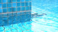 swimming pool with ripple water video