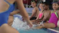 Swimming Students Make a Splash in Community Pool video