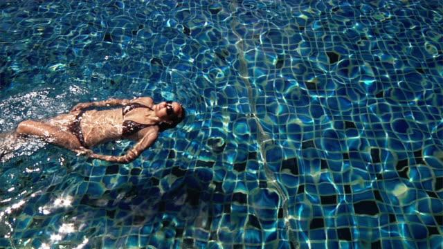 Swimming woman (HD1080) video