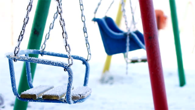 Swing for children in a park video