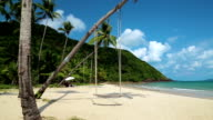 Swing on the beach, Koh-Chang island, Thailand video