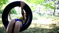 Swings on a tire swing video