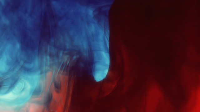 Swirling Red and Blue Ink video