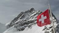 Swiss Alpine Alps mountain landscape. Viewed from Jungfraujoch video