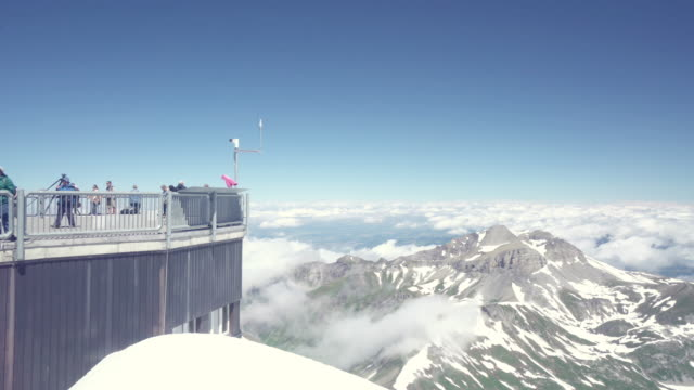 Swiss Alps top of mountain video