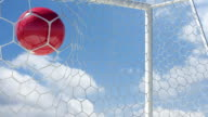 Swiss Ball Scores in Slow Motion with Sky Background video