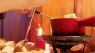 Swiss cheese Fondue Dining video