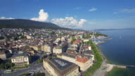 Swiss city aerial video