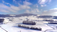 4K Swiss country side - Winter Aerial video