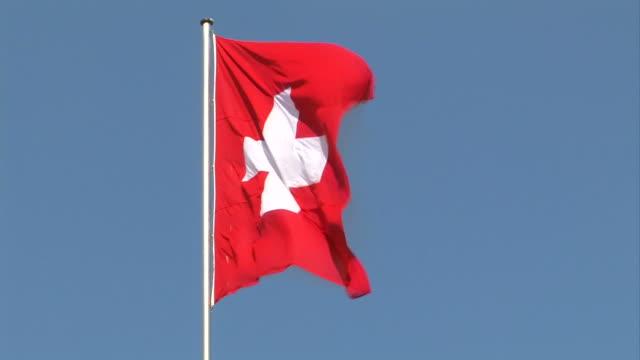 Swiss flag + close up video