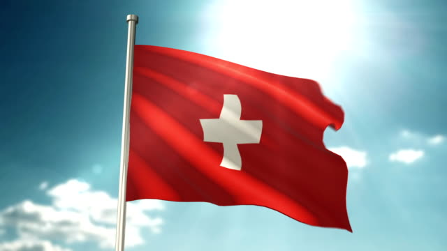 Swiss Flag Loopable video