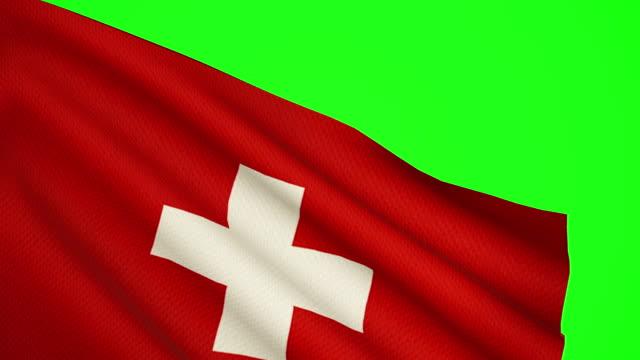 Swiss flag Luma matte video