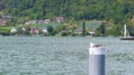 Swiss lake view on Alps Mountain, Switzerland video