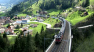 HD: Swiss train runs on the Gotthard route video