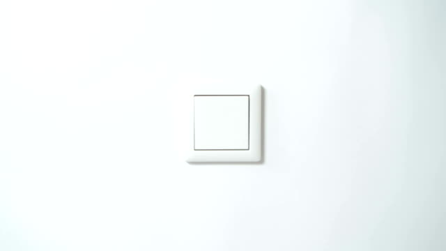 Switch on a White Wall - from Front, Centered video