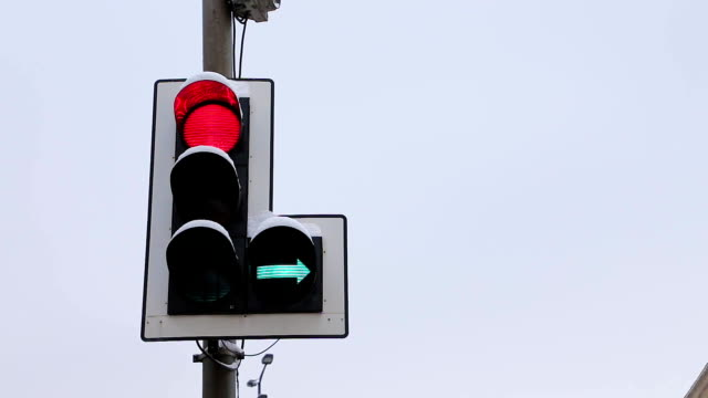 Switching of traffic lights video