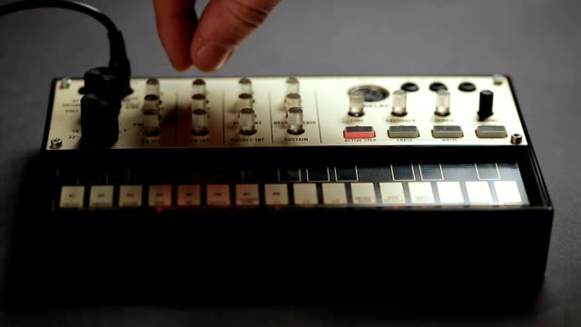switching-on of Analog Midi Controller device for sound equalizing video