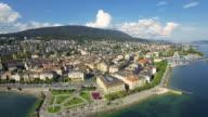 Switzerland aerial : Neuchâtel video
