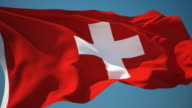 4K Switzerland Flag - Loopable video