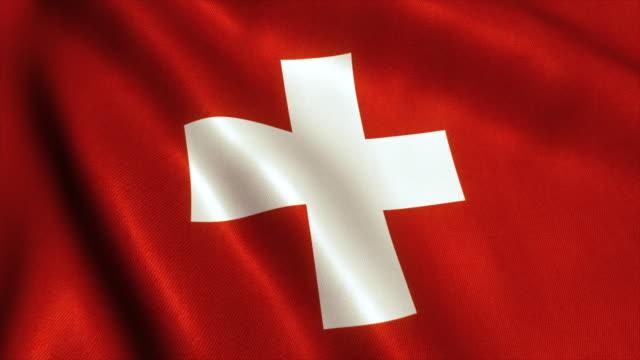 Switzerland Flag Video Loop - 4K video