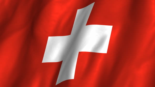 Switzerland Flag - waving, looping video
