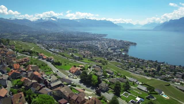 Swizerland Lake - aerial video