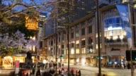 Sydney Australia Queen victoria building and Town Hall street scene video