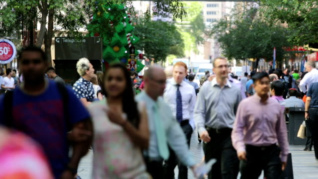 Sydney Christmas Crowds video