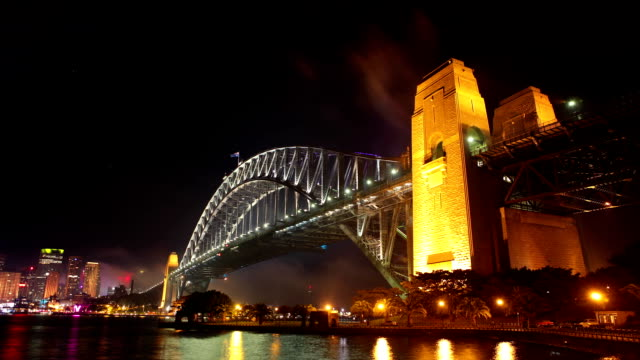 Sydney City Night Timelapse video