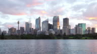 Sydney City view Dusk Hyperlapse video
