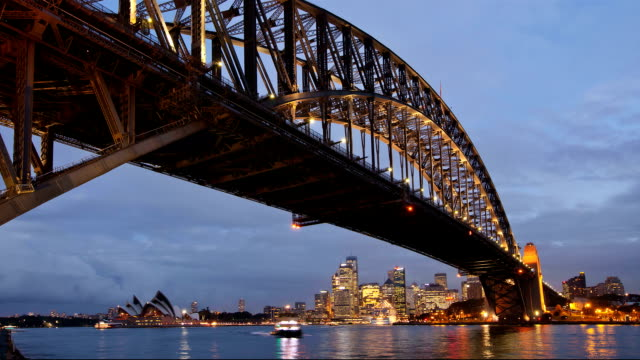 Sydney City view dusk timelapse video