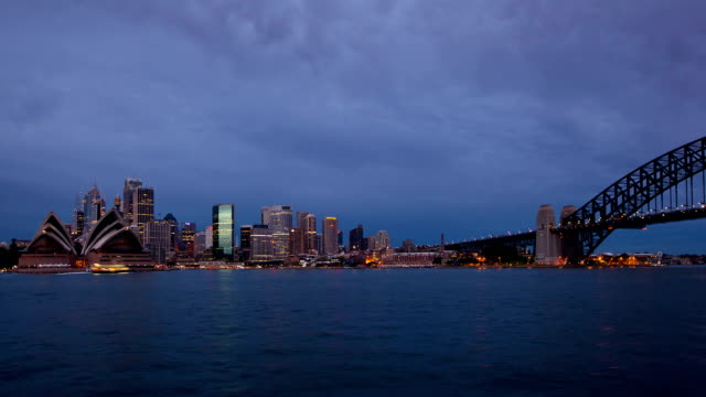 Sydney City View Sunrise timelapse video